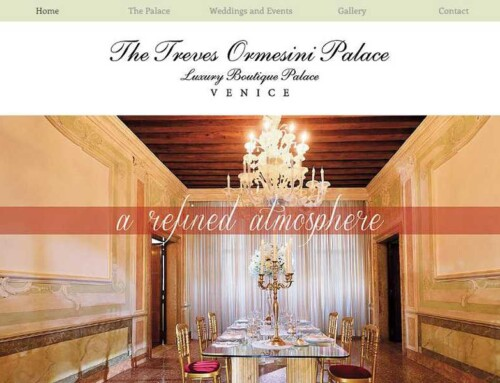 Realizzazione sito Web – Palazzo Treves Ormesini Venezia