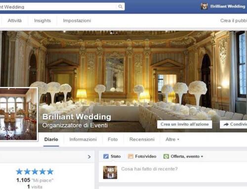 Realizzazione e aggiornamento Pagina Aziendale Facebook – Brilliant Wedding